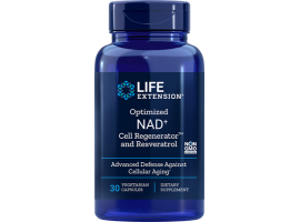 Life Extension Optimized NAD+ Cell Regenerator™ and Resveratrol 300 mg, 30 vege caps