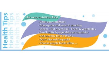10 Tips For More Nutritious Food