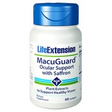 Life Extension MacuGuard® Ocular Support with Saffron , 60 softgels