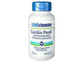 Life Extension Cardio Peak™ with Standardized Hawthorn and Arjuna, 120 vege capsules (Expiry Nov 2019)