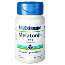 Life Extension Melatonin Lozenges 3mg, 60 lozenges