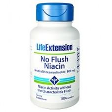 Life Extension No Flush Niacin (Inositol Hexanicotinate) 800 mg, 100 capsules