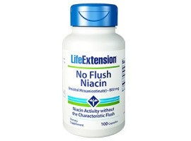Life Extension No Flush Niacin (Inositol Hexanicotinate) 800 mg, 100 capsules