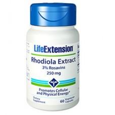 Life Extension Rhodiola Extract (3% Rosavins) 250mg, 60 vege caps (Expiry Feb 2019)