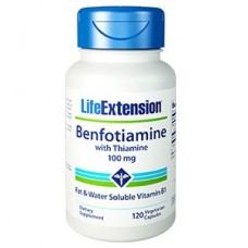 Life Extension Benfotiamine with Thiamine 100mg, 120 vege caps