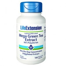 Life Extension Mega Green Tea Extract (Lightly Caffeinated), 100 vegetarian capsules  (Expiry Oct 2018)