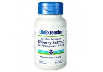 Life Extension Certified European Bilberry Extract (36% Anthocyanins) 100 mg, 100 vege caps