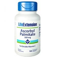 Life Extension Ascorbyl Palmitate 500mg, 100 vege caps (Expiry Oct 2018)