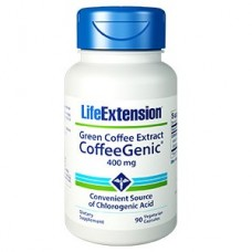 Life Extension CoffeeGenic® Green Coffee Extract (containing GCA™) 400mg, 90 vege capsules (Expiry Jul 2018)
