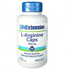 Life Extension L-Arginine Caps 700 mg, 200 vege caps