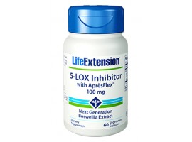 Life Extension 5-LOX Inhibitor with AprèsFlex 100 mg, 60 vege caps