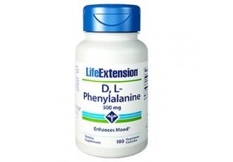 Life Extension D,L-Phenylalanine Capsules 500mg, 100 Vegetarian Capsules