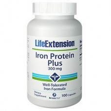 Life Extension Iron Protein Plus 300mg, 100 capsules
