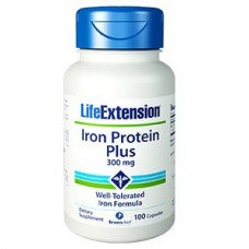 Life Extension Iron Protein Plus 300mg, 100 capsules (Expiry May 2018)