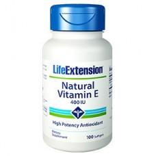 Life Extension Natural Vitamin E 400IU, 100 softgels (Expiry Jun 2019)