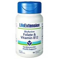 Life Extension BioActive Folate & Vitamin B12, 90 vegetarian capsules