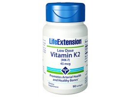 Life Extension Low-Dose Vitamin K2 (MK-7) 45 mcg, 90 softgels