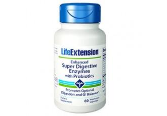 Life Extension Enhanced Super Digestive Enzymes With Probiotics, 60 vege caps