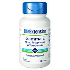 Life Extension Gamma E Mixed Tocopherols & Tocotrienol, 60 softgels
