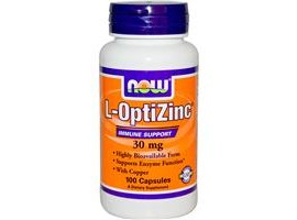 NOW L-OptiZinc 30 mg, 100 Capsules