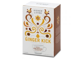 Higher Living Organic Herbal Infusion – Ginger Kick, 15 Teabags