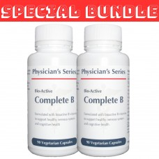 [TWIN PACK] Physician's Series Bio-Active Complete B, 90 vege caps