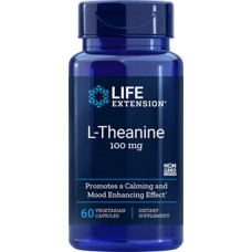 Life Extension L-Theanine 100mg, 60 vege capsules