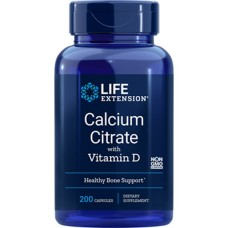 Life Extension Calcium Citrate with Vitamin D, 200 vege caps