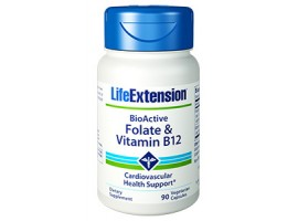 Life Extension BioActive Folate & Vitamin B12, 90 vegetarian capsules