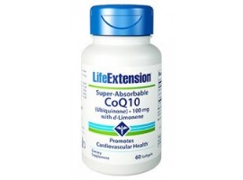 Life Extension Super-Absorbable CoQ10 Ubiquinone with d-Limonene 100 mg, 60 softgels