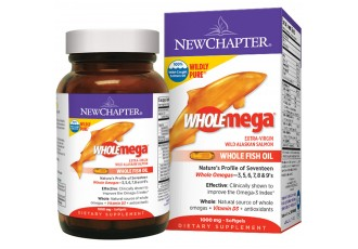 New Chapter Wholemega® Whole Fish Oil, 60 softgels