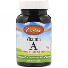 Carlson Labs Vitamin A 10,000 IU, 250 softgel